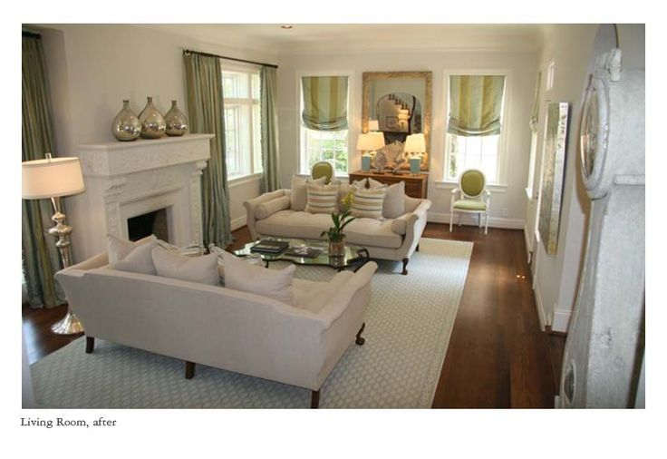 Nice furniture arrangement for long narrow room w for Living room arrangements with fireplace