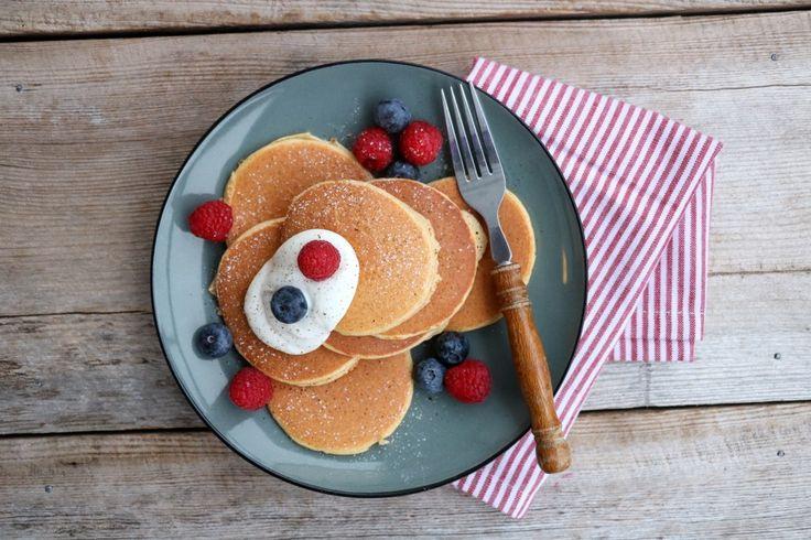 Havrepannekaker (eller proteinpannekaker om du vil – eg velger å kalle det proteinrike havrepannekaker.