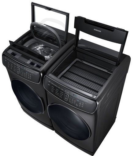 samsung flex washer | Samsung Smart Washer and Dryer Cleans Two Loads at Once - Techlicious
