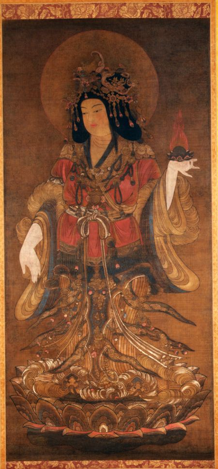 Lakshmi (Kichijoten) Japan Possibly Meiji period (1868–1912) Hanging scroll; ink and color on silk Asia Society, New York: Mr. and Mrs. John D. Rockefeller 3rd Collection