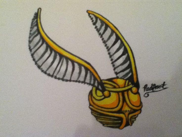 golden snitch tattoos pinterest golden snitch art