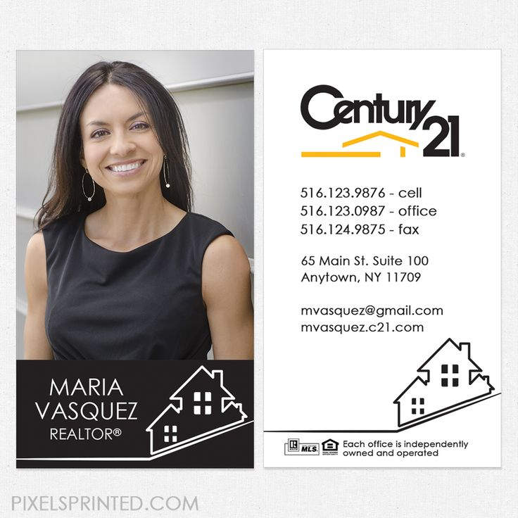 Comfortable Century 21 Real Estate Business Cards Contemporary ...