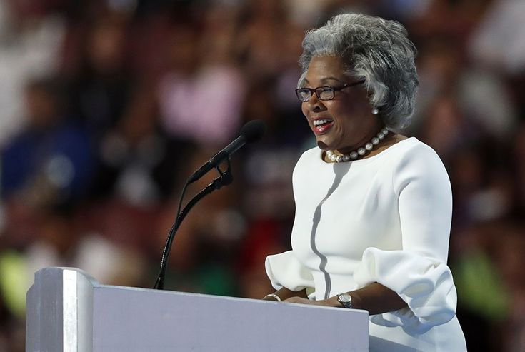 Rep. Joyce Beatty, D-Ohio, speaks during the final day of the Democratic  National Convention in Philadelphia , Thursday, July 28, 2016.