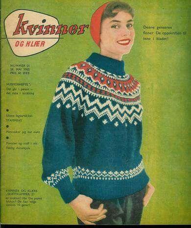 Kvinner og klær nr 21 1955