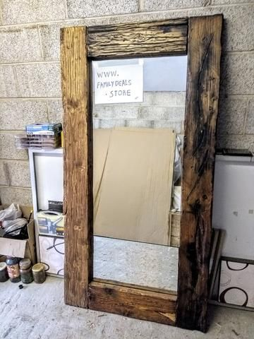 $998 - Reclaimed Wood Full Length Floor Mirror Rustic handmade Full length – Available to order now from www.FamilyDeals.store