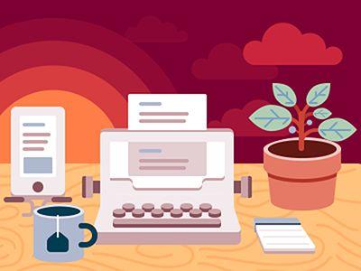 Dribbble - Writer's Desk by Fabricio Rosa Marques