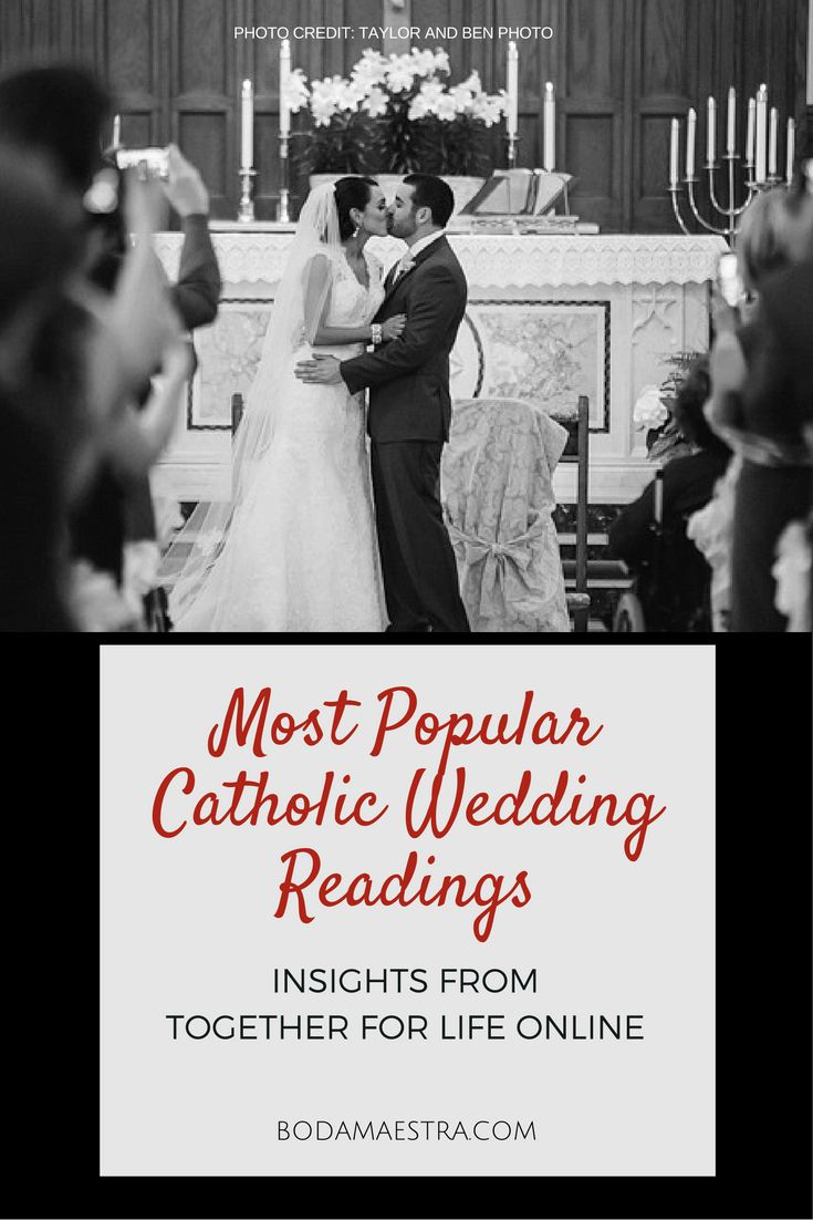 Most Popular Catholic Wedding Readings; catholic brides. Spoken Brides. Catholic Weddings; Morais Vineyards and 2941 Restaurant Weddings