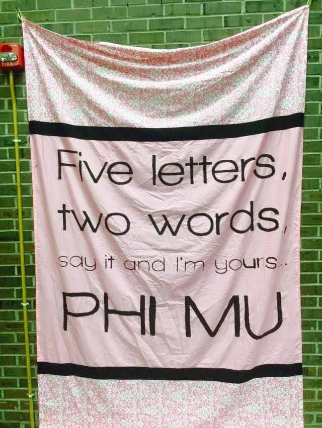 Five letters, two words, say it and I'm yours! #PhiMu