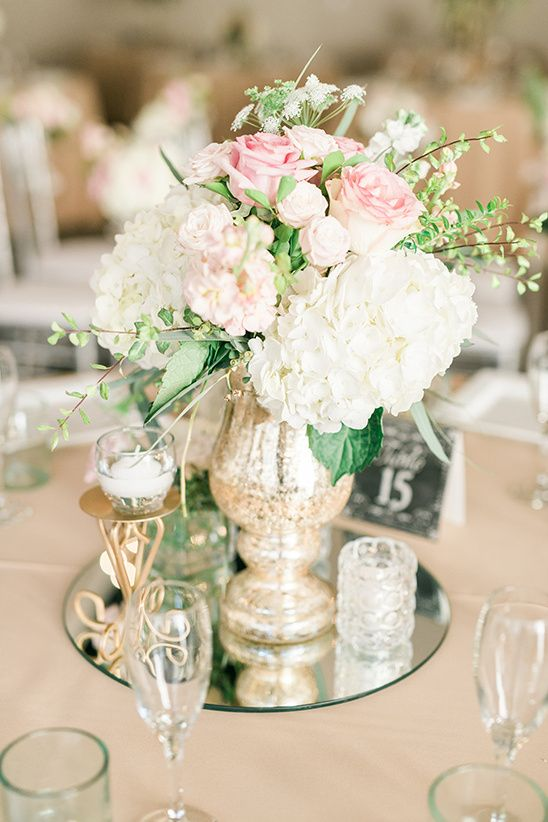floral wedding centerpiece @weddingchicks