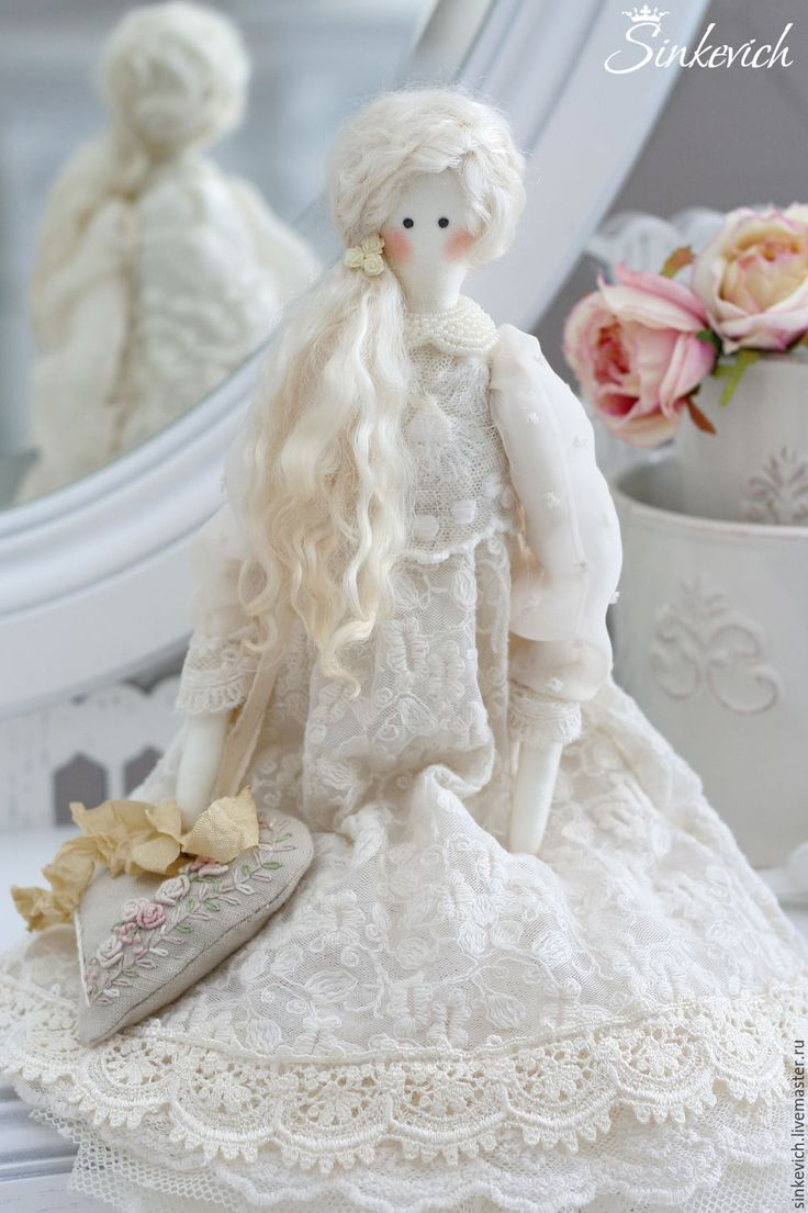 Купить Тереза - белый, тильда, кукла интерьерная, кукла текстильная, кукла Тильда, для уюта