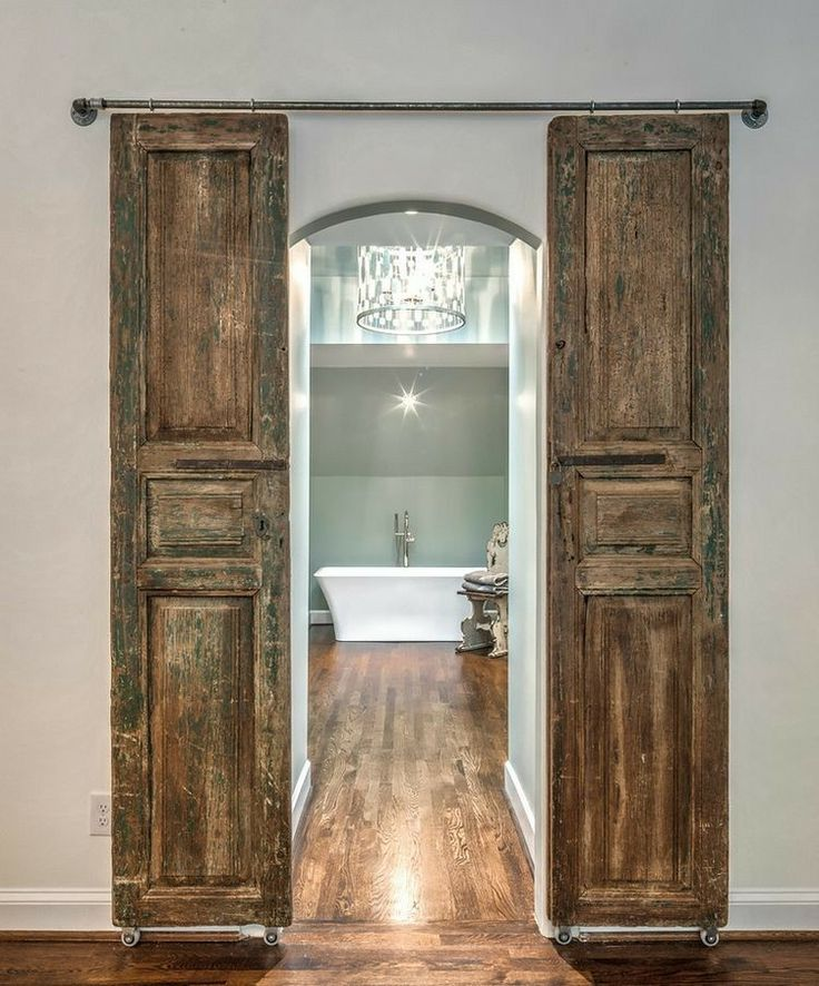 Sliding Barn Doors - Love these.  #youpinitwebuildit #customwoodwork #reclaimedwood #salvagedlumber #yeahthatgreenville