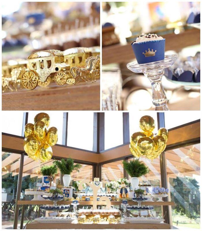 Royal Prince Themed Birthday Party with So Many Fabulous Ideas via Kara's Party Ideas | Party, Planning, Ideas, Decor, KarasPartyIdeas.com #...