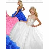 Ritzee Girls Halter Corset 7358 Pageant Dress