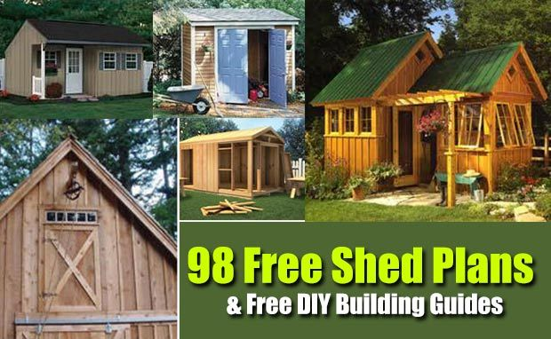 98 Free Shed Plans and Free Do It Yourself Building Guides - SHTF, Emergency Preparedness, Survival Prepping, Homesteading