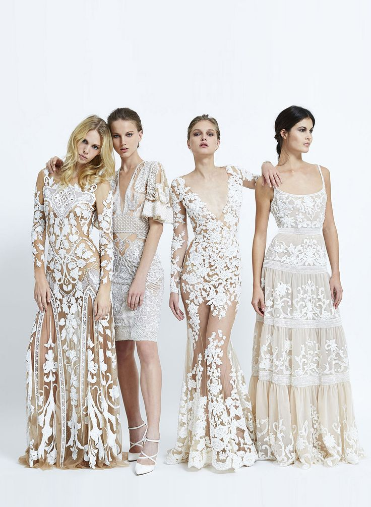 all white #wedding #dresses #lace