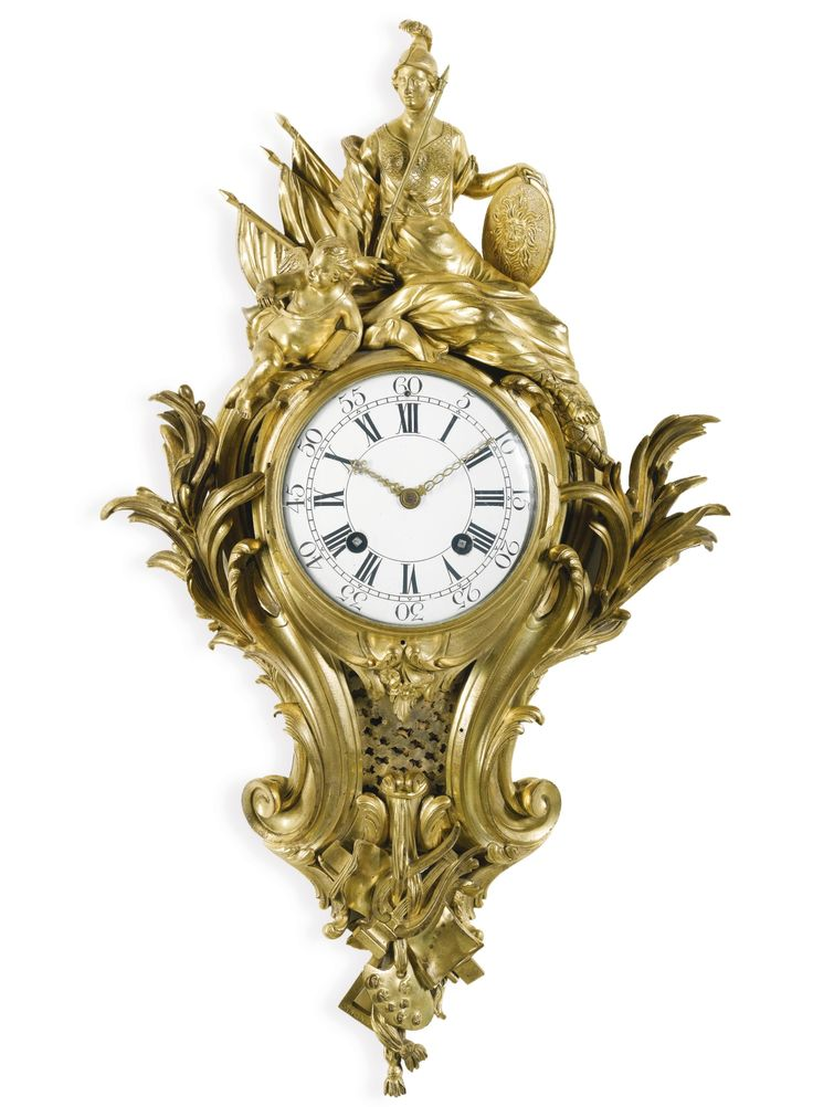A Louis XV ormolu cartel clock, Robert Osmond, Paris, circa 1750 | Lot | Sotheby's