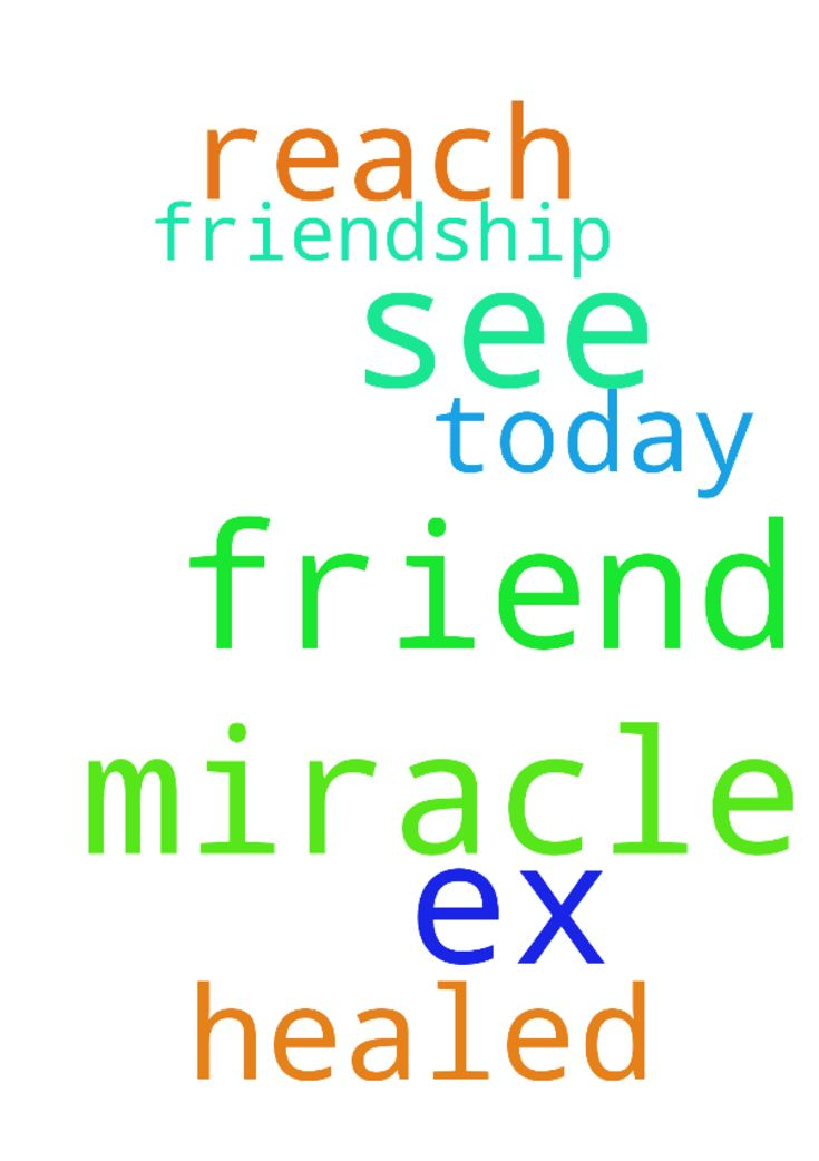 Prayers for a miracle that I will see an ex friend - Prayers for a miracle that I will see an ex friend today and that our friendship will be healed. And that he will reach out. Posted at: https://prayerrequest.com/t/Rj3 #pray #prayer #request #prayerrequest
