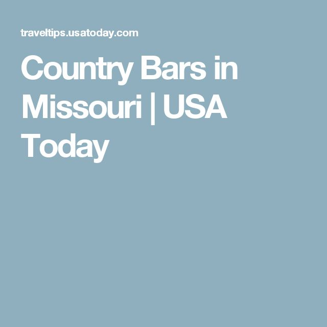 Country Bars in Missouri | USA Today
