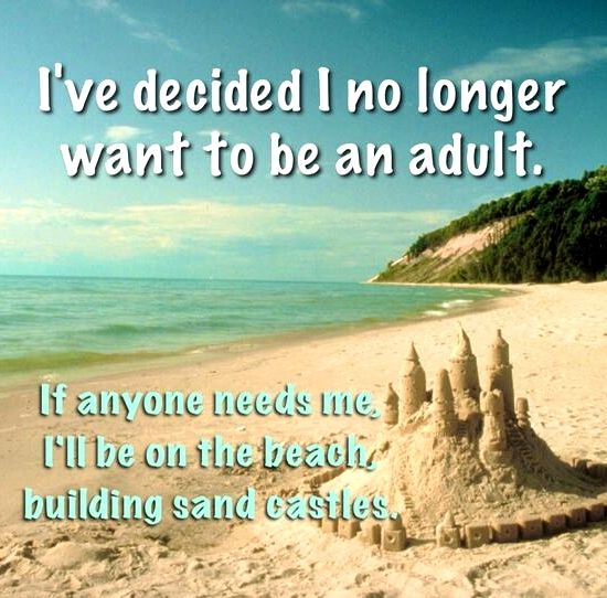 Sand Castle Quote. Featured on Beach Bliss Living: http://beachblissliving.com/amazing-sand-castles-funny-sand-sculptures/