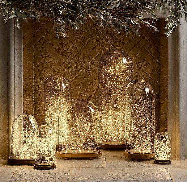 Twinkly fairy lights via Design*Sponge