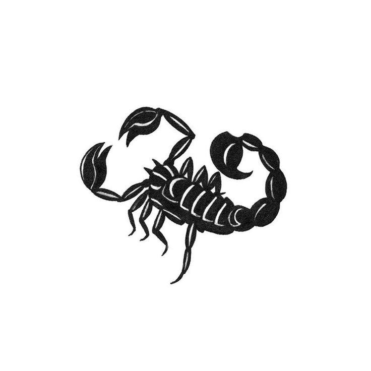 Картинки скорпион тату для девушки