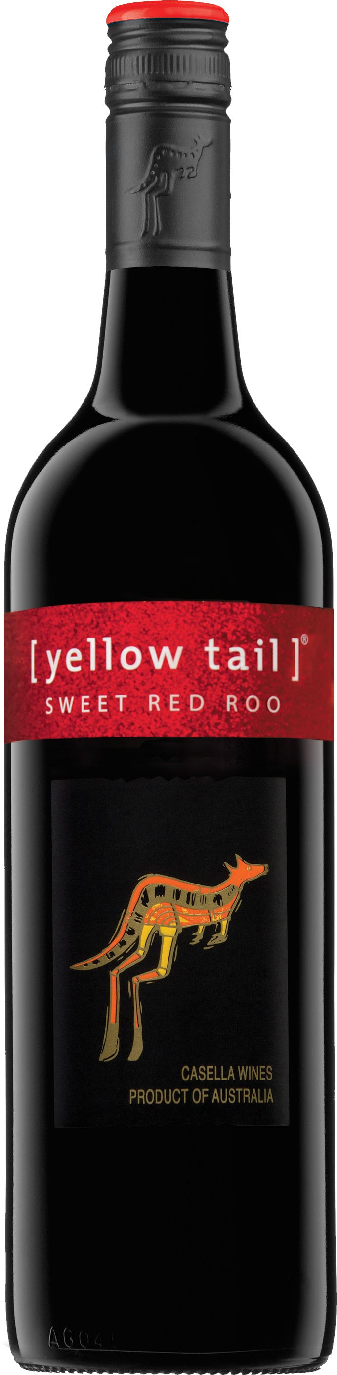 Yellow Tail-Sweet Red Roo A GNO wine. Very sweet for a red, but that's why I like it! And it's a natural sweet, not artificial.