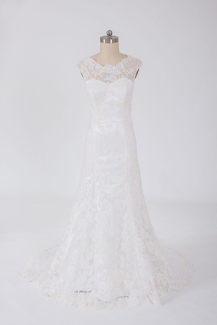 Trumpet lace wedding dress ,US$399.00   Read More:     http://www.weddingspurple.com/index.php?r=custom-made-lace-wedding-dress-for-tiffany-1.html