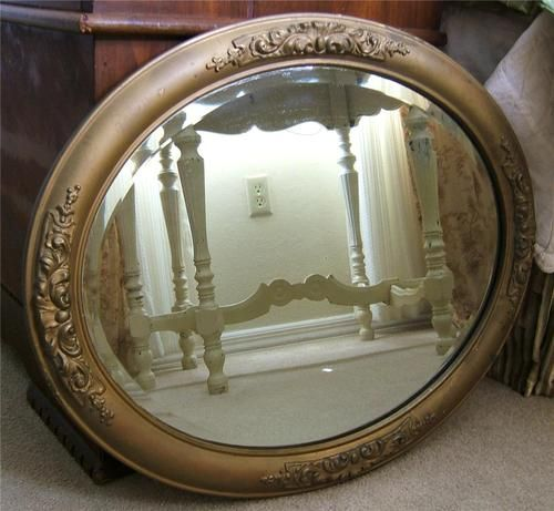 Ornate Victorian Oval Gesso Gold Wood Frame W Heavy