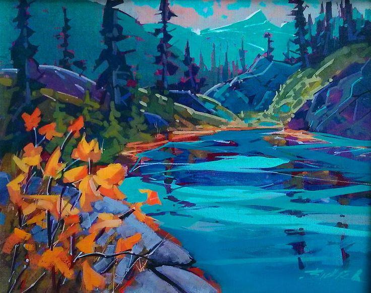 Brian Buckrell - Albert Edward Lake View Acrylic 16x20 2013