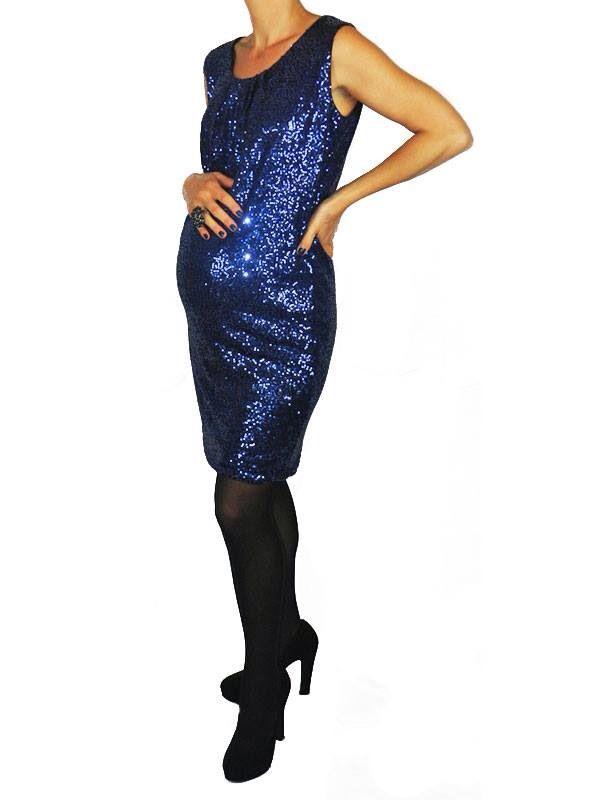 Egg Maternity Beyoncé Dress in Midnight Blue