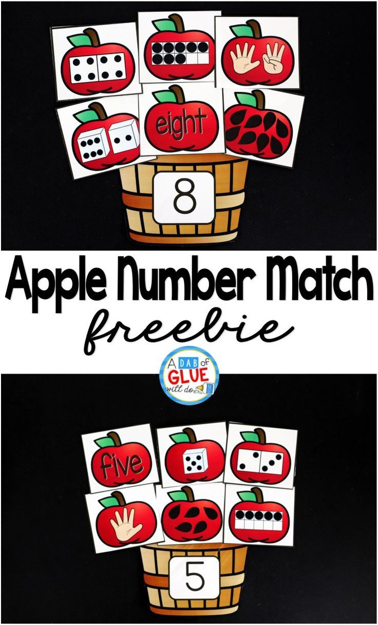 One of my favorite ways to do this is by incorporating themed centers into the classroom, like this Apple Number Match math center. My students are always so excited for their centers that sometimes I wonder if they even know that they are doing work and learning.