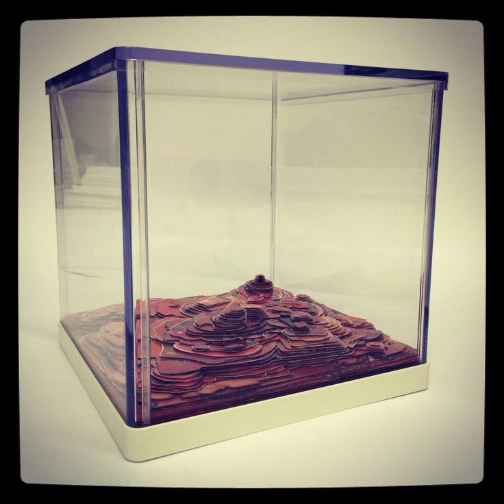"""Hills"". Paper, plastic, 23,5 x 24 x 24 cm. 2014"