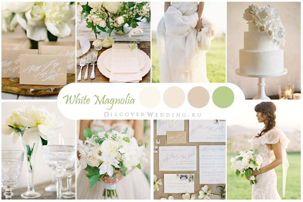 Ivory and Light Green Wedding Palette