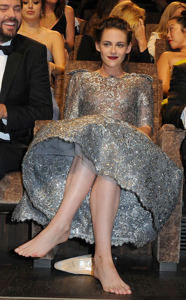 Kristen Stewart from The Big Picture: Today's Hot Pics  The star kicks off her shoes at theEqualspremiere during the2015Venice Film Festival.