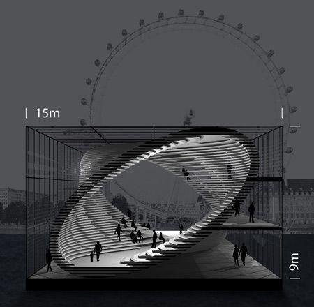 Galeria móvel conceitual, projetada para viajar ao longo do rio Tamisa em Londres   – Archi