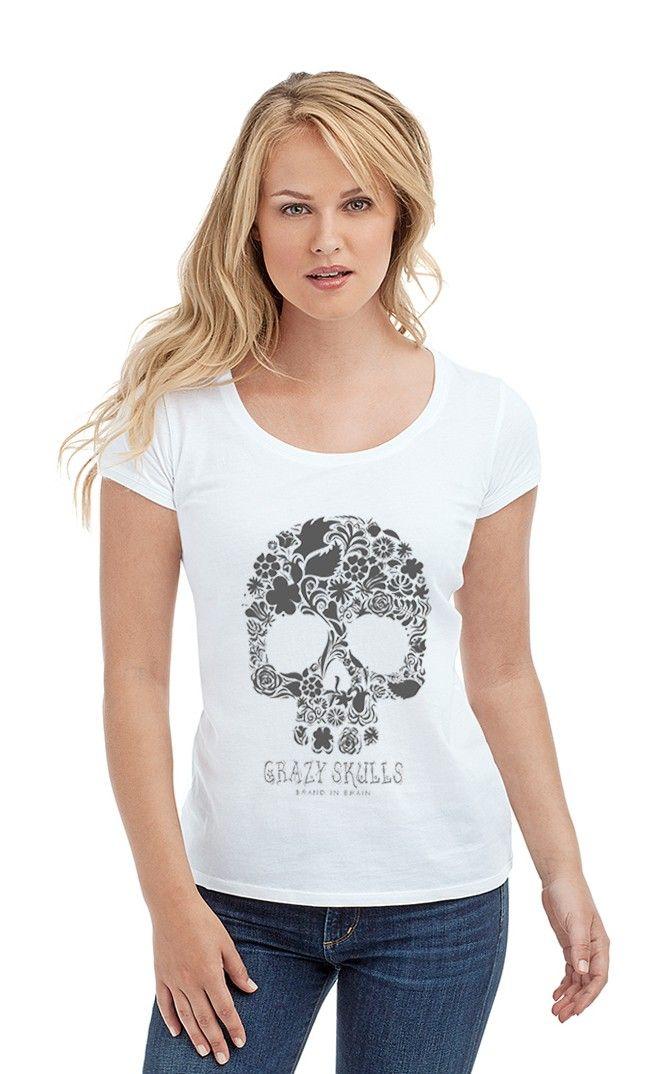 Футболка с черепом brand in brainиз коллекции CRAZY SKULLS. Женские футболки прикольные с надписями и принтами.