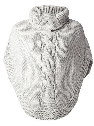 WOOLRICH - cable knit poncho 6