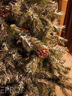 DIY Flocked Christmas tree using slightly watered down ...