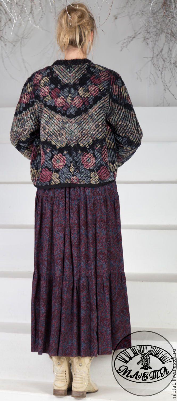 Купить Куртка синель Молитва - черный, цветочный, жакет женский, купить жакет