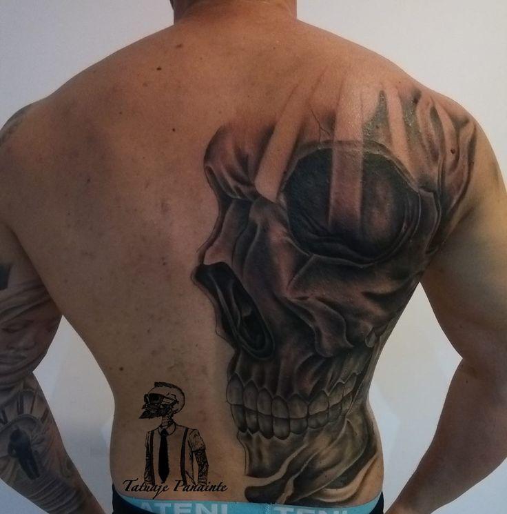 Full back tattoo in progress ! #skull #tattoos