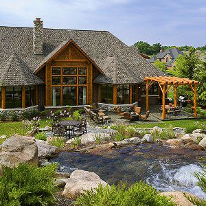 Spectacular log home built from Michigan Cedar Products! http://www.michigancedarproducts.com