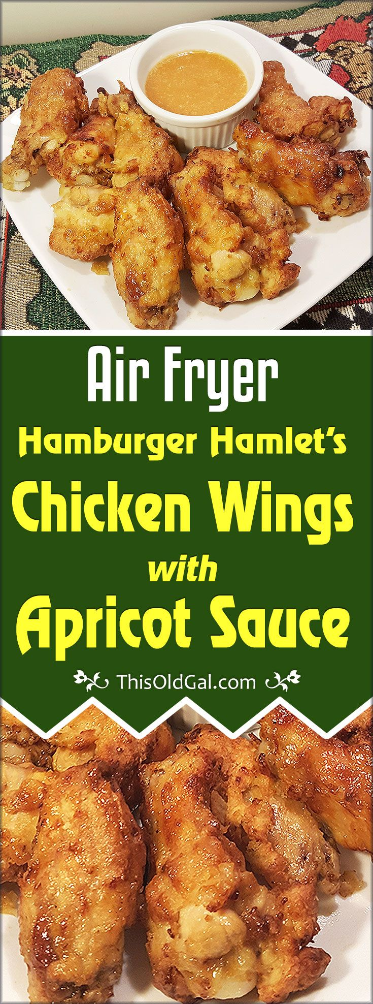 Air Fryer Hamburger Hamlet Fried Chicken Wings & Secret Apricot Sauce will bring back memories from the 80's-90s at this wonderful and famous restaurant. via @thisoldgalcooks