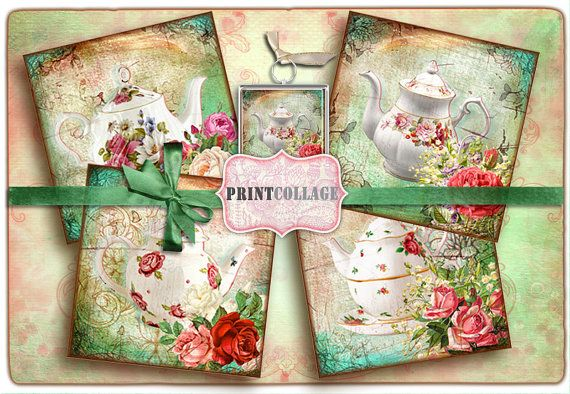 Printable Collage Sheet for Coasters Greeting by PrintCollage, $3.60
