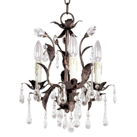 -Almost like a PB chandi but alot less!   Grove Collection Romantic Three Light Chandelier