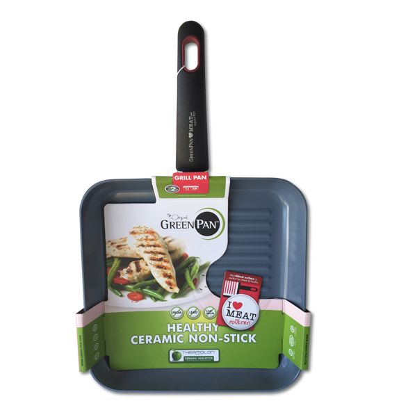 Greenpan's cookware features Termolon non-stick technology and a ceramic coating to ensure that nothing sticks to or burns onto your aluminium cooking surface.