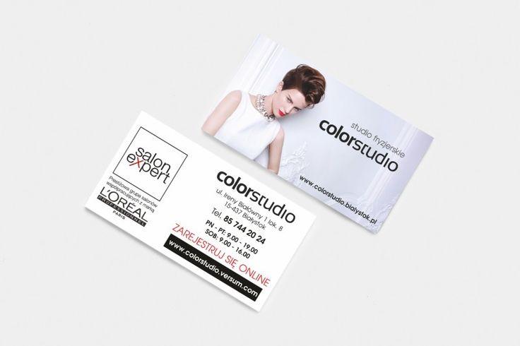 Projekt wizytówki dla salonu fryzjerskiego ColorStudio