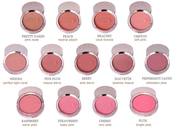100 Percent Pure Blush - Made with Fruit pigments and olis.