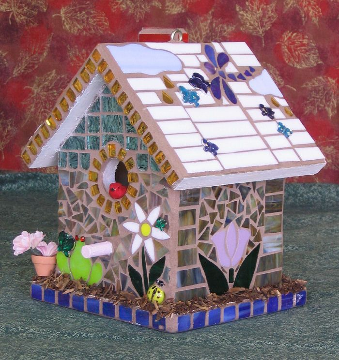 LightGarden Glass Art Studio - Stained Glass Mosaic Birdhouses