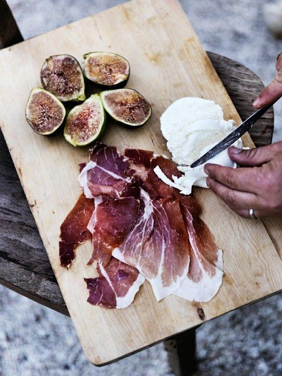 Prosciutto, mozzarella and figs. Summer perfection.