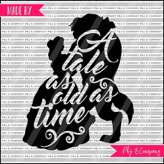 Belle and Beast, Quote DIY Cutting File - SVG, PNG, jpeg, pdf Files - Silhouette Cameo/Cricut